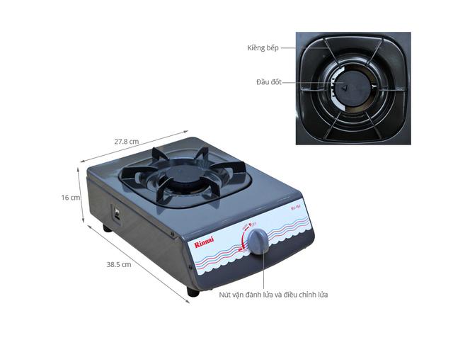 Bếp gas đơn Rinnai RV-150G chất lượng với thiết kế đẹp