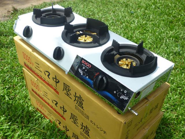 Bộ 3 bếp gas bán bán công nghiệp khè 3 lò SOGO GT-208 S3 chính hãng