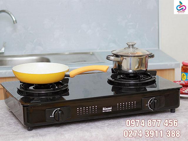 Địa chỉ cung cấp Bếp gas đôi Rinnai RV-715 Slim(GL-D)  chính hãng, giá tốt