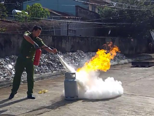 Xử lý bình gas bị rò rỉ hiệu quả