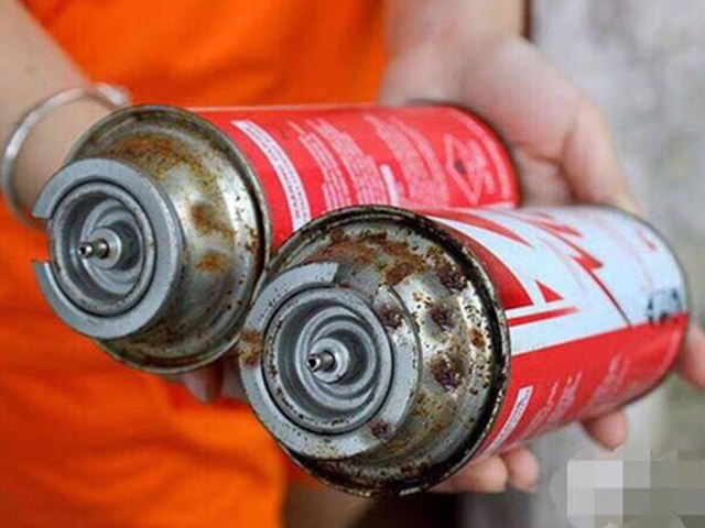 Không sử dụng bình gas mini bị cũ, hở van gas