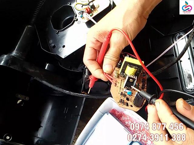 Motor quạt hơi nước bị hư hỏng