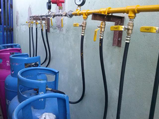 Hệ thống gas công nghiệp thường sử dụng