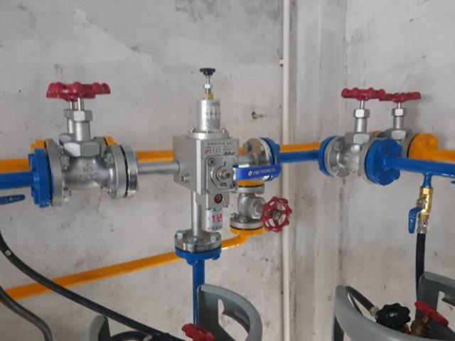 Giàn gas công nghiệp bằng thép đúc