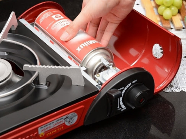Bếp gas mini bị xì bình gas khi sử dụng