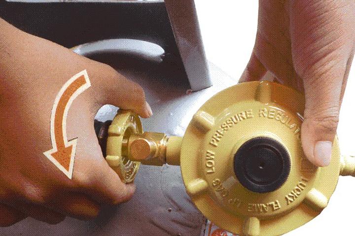Cách khóa van bình gas an toàn