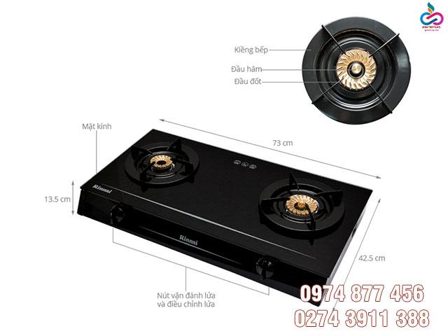 Ưu điểm trong thiết kế của Bếp gas Rinnai RV-7Double Glass